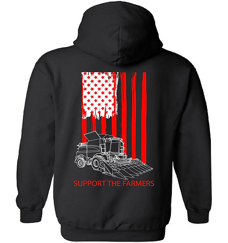 Laura Farms - Support The Farmers - Team Case IH - Hoodie