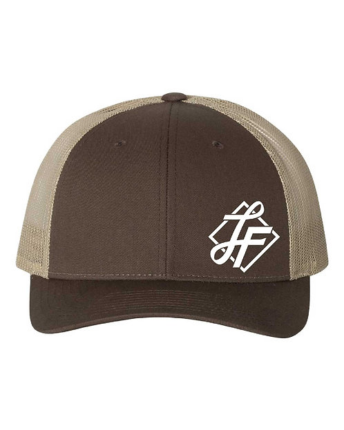Laura Farms - Richardson Snapback Trucker Cap (Brown/Khaki)