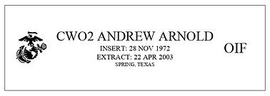 Veteran memorial plaque.