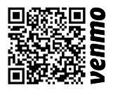 Venmo giving platform QR code