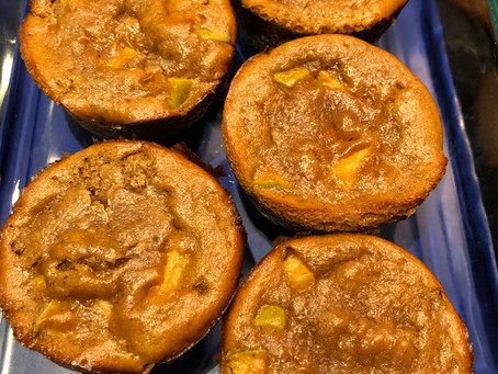 Flourless Apple Peanut Butter Muffins