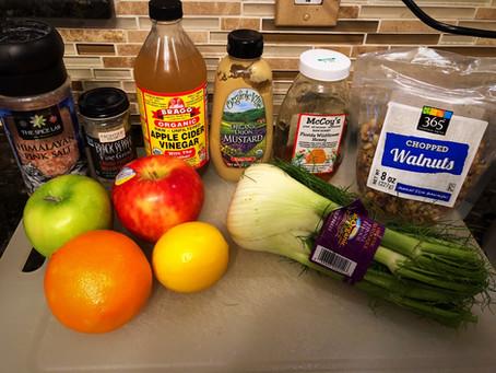Apple Walnut Fennel Salad