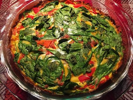 Spinach & Prosciutto Paleo Quiche