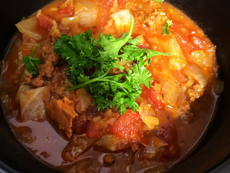 Crockpot Unstuffed Cabbage Roll Soup