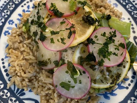 Mahi Mahi with Spring Veggies