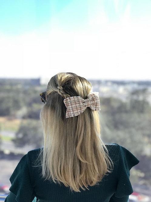 Laço de cabelo Anna em tweed