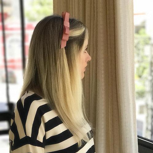 Tiara de cabelo Ribbon em fita gorgurão com laço