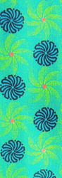 SHWE SHWE - TURQUOISE/GREEN WITH BLUE FLOWERS