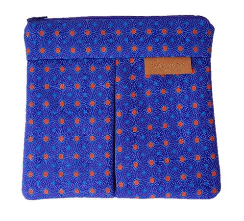 ROXANNE POUCH - SHWESHWE PURPLE/ORANGE/TURQUOISE