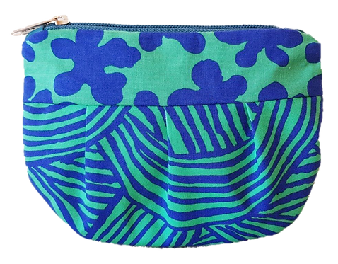 SQUIGGLE - blue/green pouch