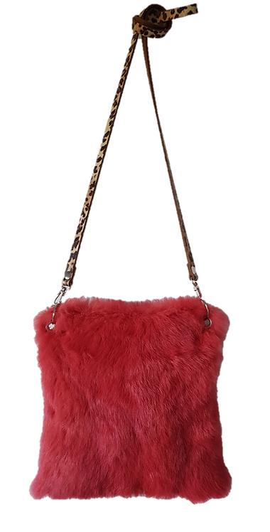 LILY PILLOW BAG MIDI - Corail - Lapin