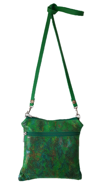 PILLOW CLUTCH MINI- Green - Genuine leather