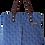 Thumbnail: ROXANNE HANDBAG - SHWESHWE BLUE/WHITE