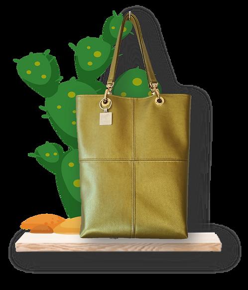 TOTE bag - Peau de Cactus Or - Cuir vegan