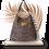 Thumbnail: COLLECTION SAVANE - LEOPARD HOBO BAG - cuir suède