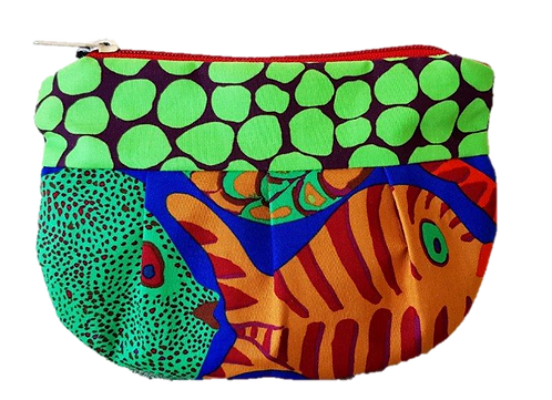 FAT FISH - Blue/Green pouch