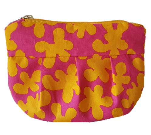 SQUIGGLE - yellow/fuchsia pouch