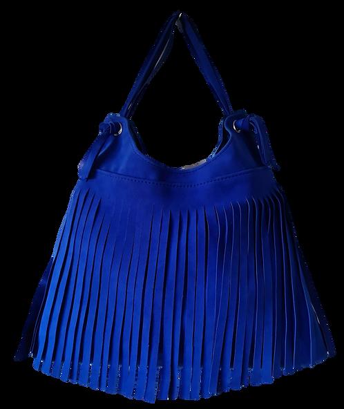 Sac à franges - ESPRIT SQUAW - Bleu électrique