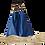 Thumbnail: Tote Bag NERISSA - Sac fourre-tout - Cuir véritable - Bleu Océan