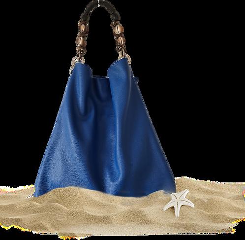 Tote Bag NERISSA - Sac fourre-tout - Cuir véritable - Bleu Océan