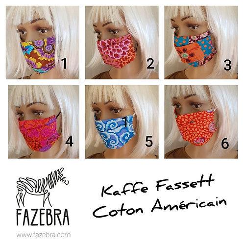 Masque-barrière à plis - coton américain - Kaffe Fassett design