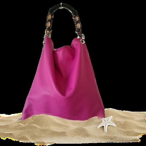 Tote Bag NERISSA - Sac fourre-tout - Cuir véritable - Fuchsia