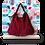 Thumbnail: Hobo bag franges - ESPRIT SQUAW - Bordeaux