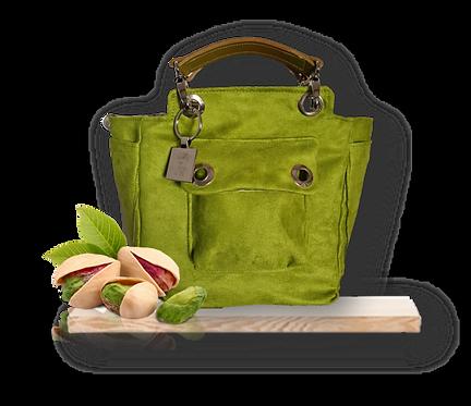 Mini Tote Bag - Alcantara - Pistachio