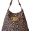 Thumbnail: LEOPARD HOBO BAG - suede leather