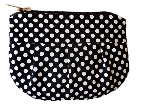 SPOTS - black/white pouch