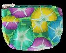 Glory - pochette fleurs vertes