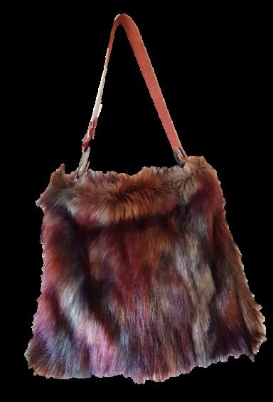 SMILLA - Vineyard Fox - Tote bag - Eco fur + genuine Leather