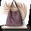 Thumbnail: COLLECTION SAVANE - GIRAFFE HOBO BAG - cuir suède