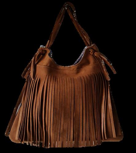 Fringe Shoulder Bag - ESPRIT SQUAW - Caramel