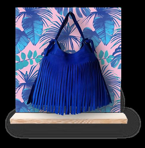 Hobo bag franges - ESPRIT SQUAW - Bleu électrique