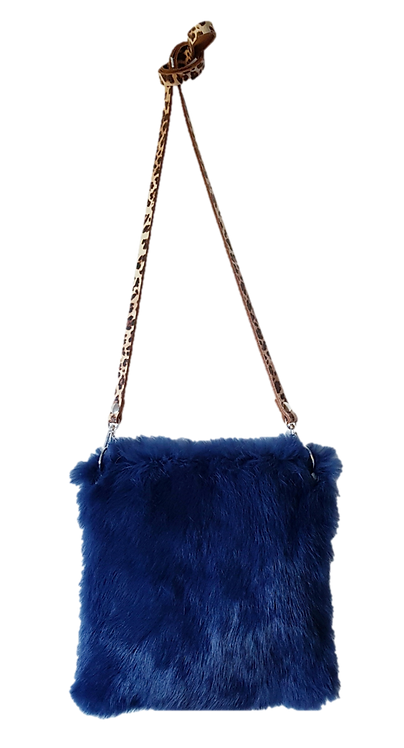 LILY PILLOW BAG MIDI - Bleu nuit - Lapin