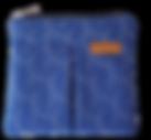 blue shweshwe pouch