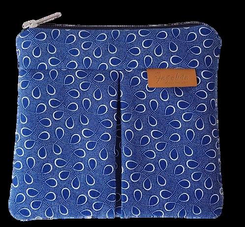 ROXANNE POUCH - SHWESHWE BLUE&WHITE