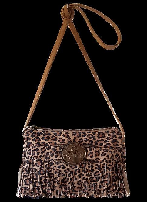 LEOPARD MINI BAG - Suede leather