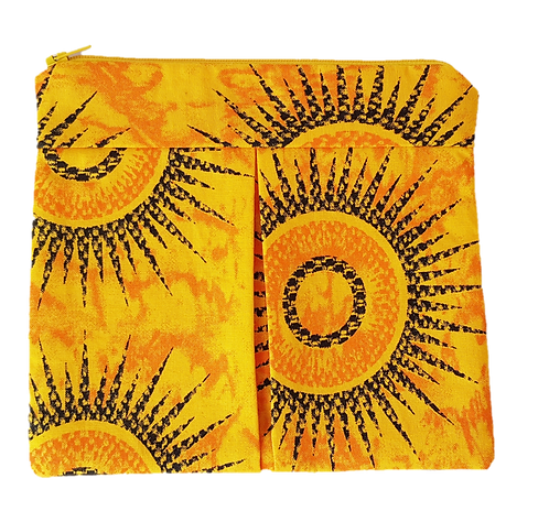 ROXANNE POUCH - SHWESHWE YELLOW SUN