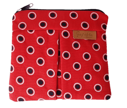 ROXANNE POUCH - SHWESHWE RED/BLACK/WHITE