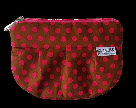 LES POIS - Brown/Pink polka dots