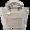 Thumbnail: Mini Tote Bag - White embossed / animal print leather - Genuine leather