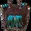Thumbnail: Tote Bag - Poche plumes et  Médaillon ethnique - Cuir véritable