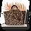Thumbnail: Maxi Tote Bag - Leopard Hair Calfskin - Genuine leather