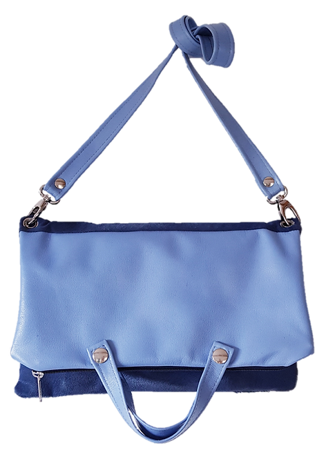 MAXI FOLDING BAG - Calf hair leather - blue