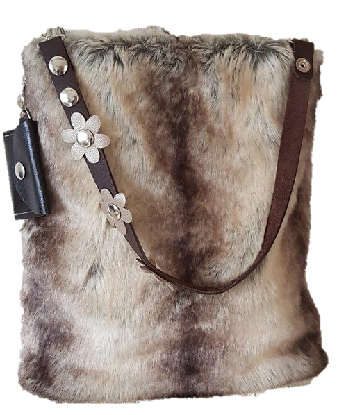 SMILLA - Koala - Bucket bag - Eco fur + genuine Leather
