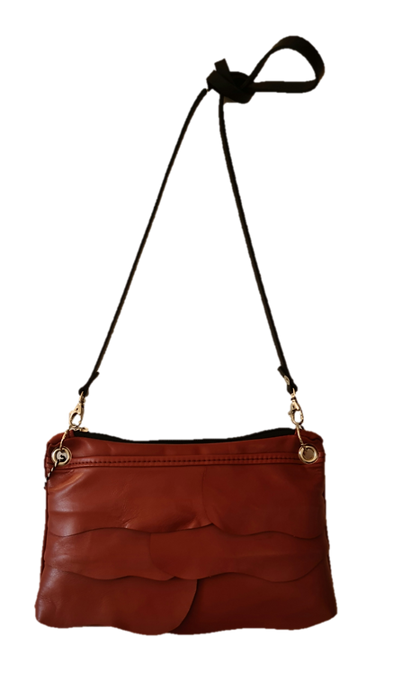 COLLECTION ÉCORCE - MINI BAG - Cinnamon brown - Genuine leather