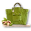 Thumbnail: Maxi Tote Bag - Alcantara - Pistachio