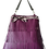 Thumbnail: LES FRANGES - Trapeze handbag - purple